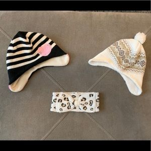 Children's Place and Carter's hats and headband